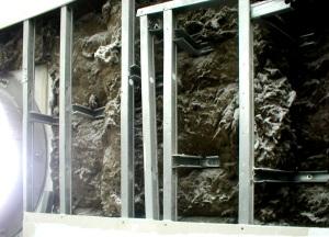 Camadas constituintes das paredes externas da Fundação Iberê Camargo - Porto Alegre (Álvaro Siza, 1998)