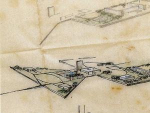 1956 - Estudo para a Praça dos Três Poderes - Lucio Costa
