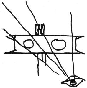 Figura 12 – Croqui do Congresso Nacional. Oscar Niemeyer. 1987.