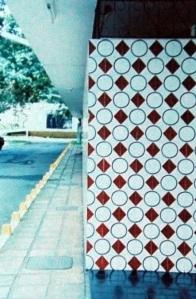 Detalhe da combinação de revestimentos (Marcelo Campello e Sérgio Rocha, 1959). Foto - Carlos H. Magalhães, 2002