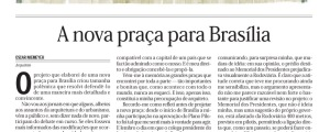 A nova praça para Brasília