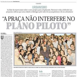 A praça não interfere no Plano Piloto