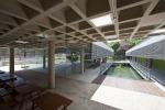 foto - vista pátio interno a partir da biblioteca