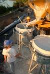 obra: preparação do concreto