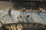 obra: concretagem das rampas