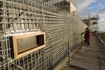 obra: armaduras das paredes das rampas exteriores e base esquadria