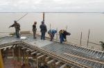 obra: armação da laje da rampa externa