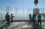 obra: concretagem de módulo de parede da fachada