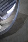 obra: vista interna do átrio após concretagem