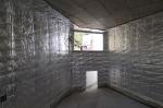 obra: revestimento das salas de exposição com lã-de-rocha