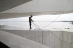 obra: limpeza e proteção do concreto das passarelas