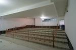 obra: auditório no subsolo