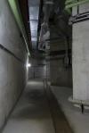 instalações hidráulicas na galeria técnica do subsolo