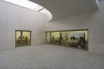 vista da biblioteca e da sala de reuniões, no subsolo