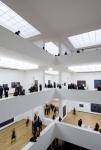 vista salas de exposição e clarabóias