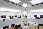 vista interna das salas de exposição