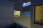 vista noturna dos prédios auxiliares
