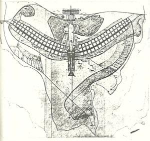 Fig.1 – Plano-Piloto original – vencedor segundo júri internacional [1957] Fonte: Brasília 57-85. p. 29