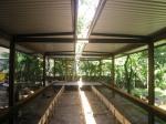 obra: telhas metálicas instaladas e execução da laje de piso