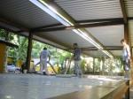obra: laje de piso