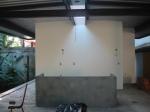 obra: espaço da cozinha e bancada