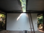 obra: sala de estar e clarabóia de vidro