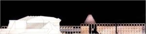 Bibliotheca Alexandrina, Alexandria, Egito. José Eduardo Ferolla, Fernando Ramos, Carlos Antônio Leite Brandão, 1989. Terceiro Lugar em concurso internacional