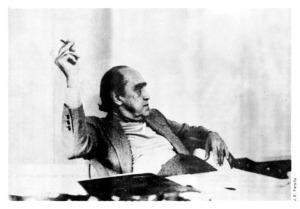 Oscar Niemeyer em seu escritório, 1979. Foto: José E. Ferolla