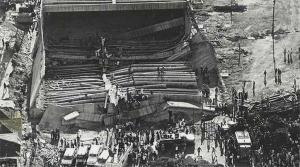 Pavilhão de Exposições da Gameleira após o desabamento em 1971. Fonte: Arquivo Público Mineiro