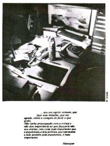 Página do primeiro exemplar da Revista Pampulha, 1979. Foto: Maurício Andrés
