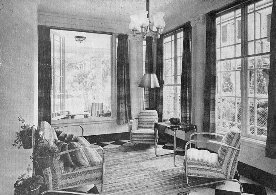 Residência Reynold King Hughes, Moya & Malfatti, 1938.