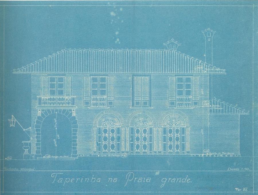 Taperinha na Praia Grande, Georg Przyrembel, 1922.