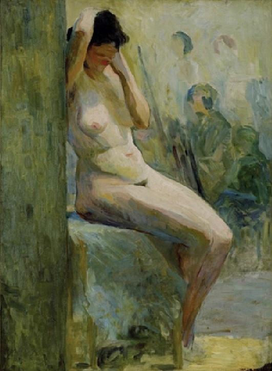 Estudo (Nu sentado), Tarsila do Amaral, 1921.