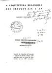 """""""A arquitetura brasileira dos séculos XIX e XX"""", Mario Barata, 1952."""