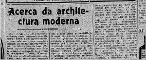 Acerca da Arquitetura Moderna, Gregori Warchavchik, 1925.
