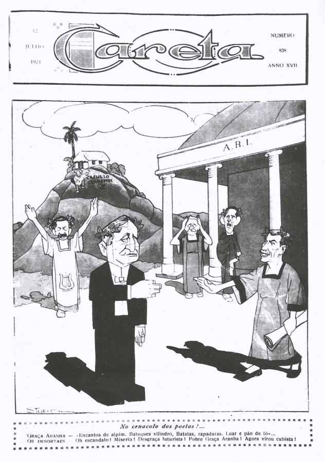 Graça Aranha pagando o mico de sua conversão ao modernismo...