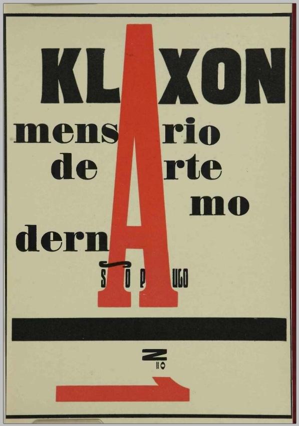 Klaxon, no 1, maio 1922.