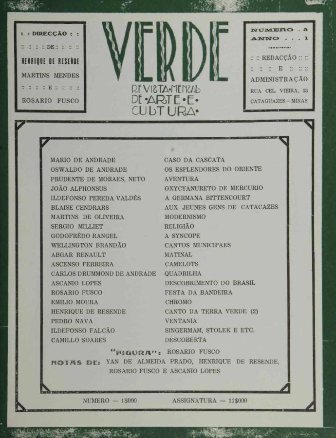 Verde, no 3, nov. 1927.